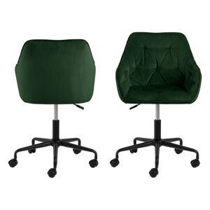 Zelená kancelářská židle se sametovým povrchem Actona Brooke