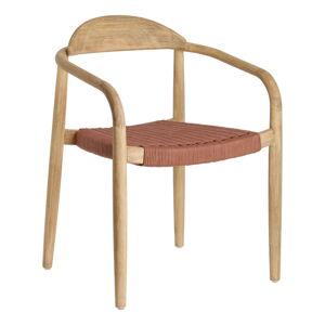Zahradní židle z eukalyptového dřeva s područkami La Forma Glynis