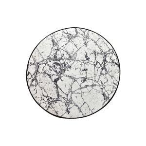 Černo-bílá koupelnová předložka Chilai Marble Circle, ø 100 cm