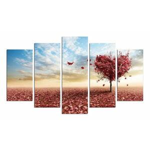 Vícedílný obraz Leaves From Heart, 110 x 60 cm