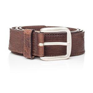 Hnědý kožený pánský pásek Ferruccio Laconi Sven, délka 100 cm