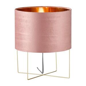 Růžová stolní lampa Fischer & Honsel Aura,výška43 cm
