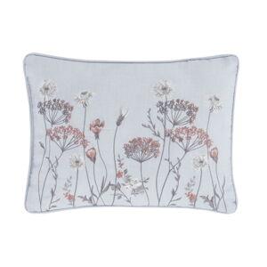 Růžovo-šedý polštář Catherine Lansfield Meadowsweet Floral, 30 x 40 cm