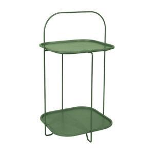 Tmavě zelený odkládací stolek Leitmotiv Trays