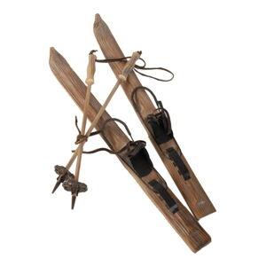 Dřevěná dekorace ve tvaru lyží Antic Line Board