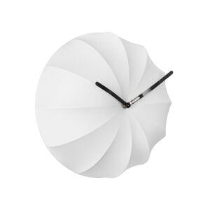Bílé nástěnné hodiny Karlsson Stretch,ø40 cm