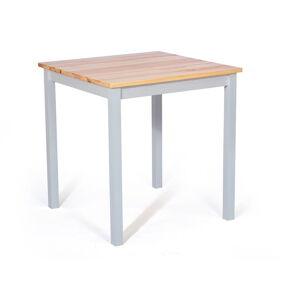Jídelní stůl z borovicového dřeva s bílou konstrukcí loomi.design Sydney, 70 x 70 cm