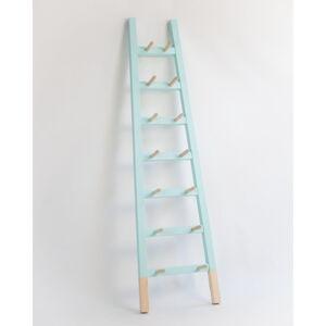 Odkládací dekorativní žebřík z borovicového dřeva Surdic Stair Aquamarina