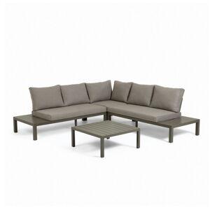 Set hnědého zahradního nábytku s hliníkovou konstrukcí La Forma Duka