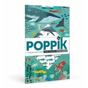 Vzdělávací samolepkový plakát Poppik Oceány