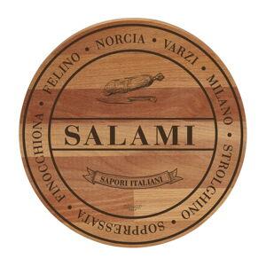 Prkénko z bukového dřeva Bisetti Broad Salami,ø 30cm