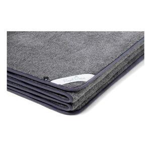 Tmavě šedá deka z merino vlny Royal Dream,220x200cm