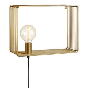 Nástěnné svítidlo ve zlaté barvě Markslöjd Shelf Wall Gold