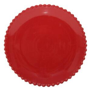 Rubínově červený kameninový dezertní talíř Costa Nova Pearlrubi, ø 22 cm