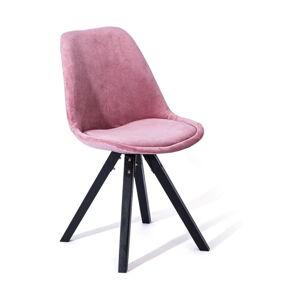 Sada 2 růžových jídelních židlí loomi.design Dima