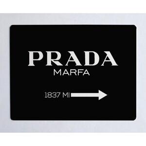 Černá podložka na stůl Little Nice Things Prada, 55 x 35 cm
