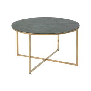 Konferenční stolek s deskou v dekoru zeleného mramoru Actona Alisma