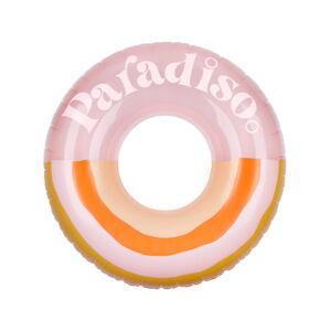 Růžovo-oranžový nafukovací kruh Sunnylife Paradiso