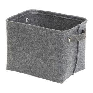 Šedý plstěný úložný košík Compactor Felt Basket, 29 x 24 cm