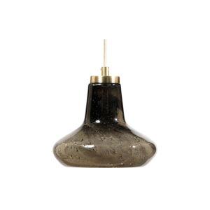 Šedé skleněné stropní svítidlo BePureHome, ø 23 cm