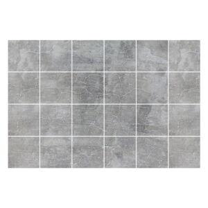 Sada 24 samolepek na zeď Ambiance Grey Cloudy, 10x10cm