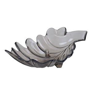 Hnědá miska z recyklovaného skla Ego Dekor Parra, 11 x 35 cm