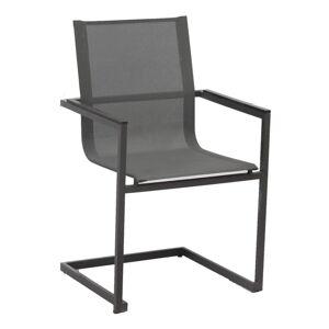 Sada 4 antracitově šedých zahradních židlí z nerezové oceli ADDU Sophia