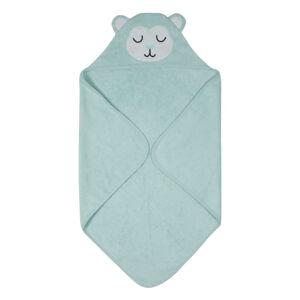 Modrý dětský ručník z froté bavlny Södahl Monkey, 80x80cm