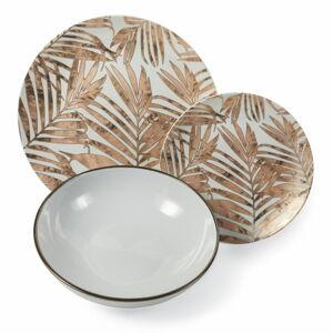 18dílná sada talířů z porcelánu a kameniny Villa d'Este Forest