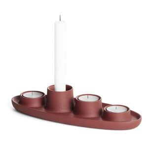 Svícen ve vínové barvě EMKO Aye Aye Four Candles