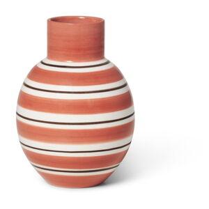 Růžovo-bílá keramická váza Kähler Design Nuovo, výška 14,5 cm