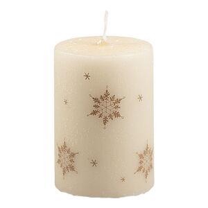 Krémově bílá svíčka Unipar Ice Natur, doba hoření 18 h