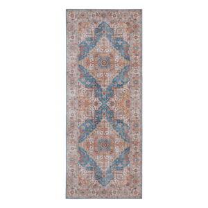 Modro-červený koberec Nouristan Sylla, 80 x 200 cm