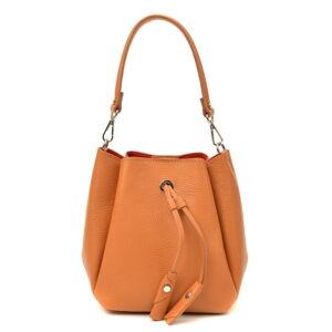 Hnědá kožená kabelka Luisa Vannini, 20 x 26 cm