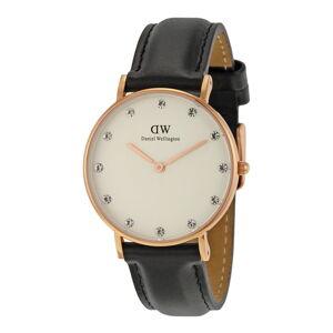 Dámské hodinky s koženým řemínkem a ciferníkem růžovozlaté barvy Daniel Wellington Sheffield, ⌀34mm