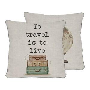 Oboustranný povlak na polštář Really Nice Things Travel Life, 45 x 45 cm