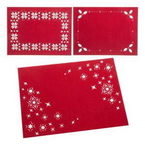 Sada 3 červených vánočních prostírání Unimasa, 30 x 40 cm