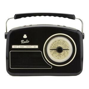 Černé rádio GPO Rydell Nostalgic Dab Radio Black