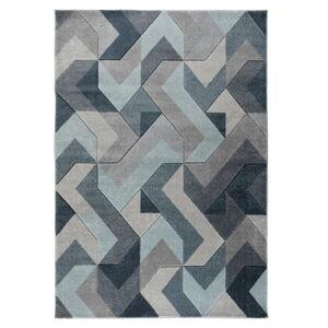 Modro-šedý koberec Flair Rugs Aurora, 120 x 170 cm