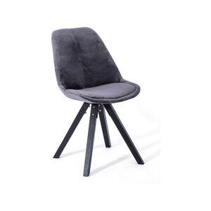 Sada 2 tmavě šedých jídelních židlí loomi.design Dima