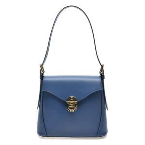 Modrá kožená kabelka Roberta M