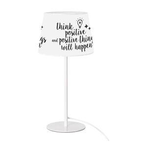 Černo-bílá stolní lampa SULION Positive