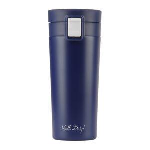 Tmavě modrý cestovní termohrnek Vialli Design Fuori,400ml