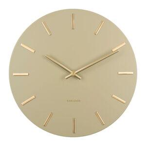 Olivově zelené nástěnné hodiny Karlsson Charm, ø 30 cm
