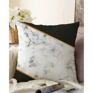 Povlak na polštář s příměsí bavlny Minimalist Cushion Covers Shadowy Marble,55x55cm