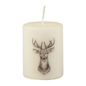 Krémově bílá svíčka Unipar Deer, doba hoření 32 h