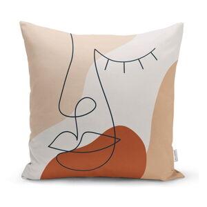 Povlak na polštář Minimalist Cushion Covers Drawing Face Pastel, 45 x 45 cm