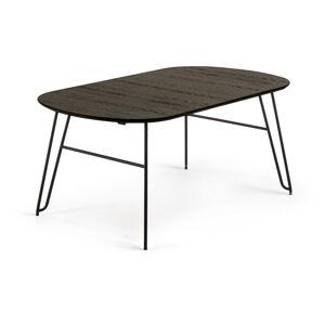 Černý rozkládací jídelní stůl La Forma Norfort, 170 x 100 cm