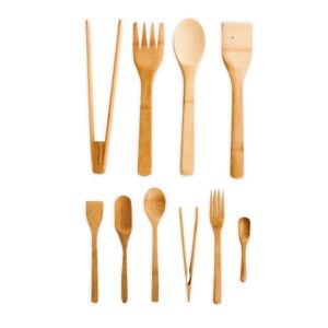 Sada 10 kuchyňských nástrojů z bambusu Bambum Violi