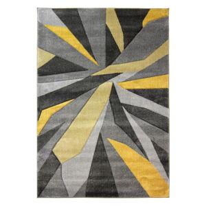 Žlutošedý koberec Flair Rugs Shatter Ochre, 80x150cm